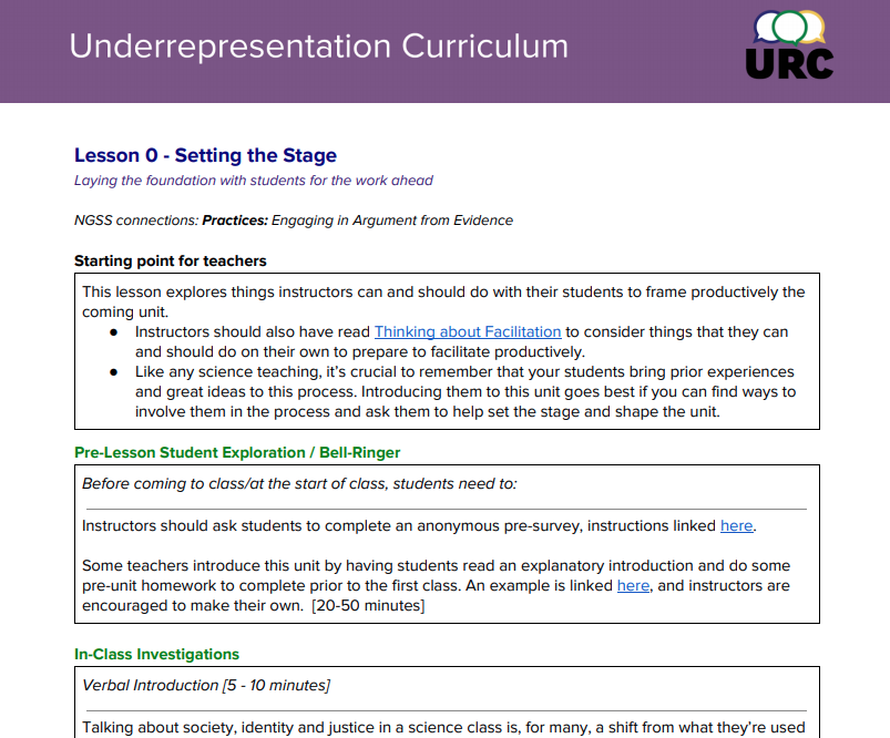 An imagine of a sample lesson plan. All lesson plans are linked as PDF files below.